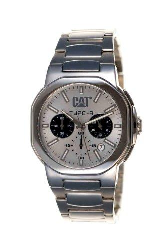 2b74cca17a3a Caterpillar TA 143 11 222 - Reloj de caballero con correa de acero  inoxidable - sumergible a 100 metros  Amazon.es  Relojes