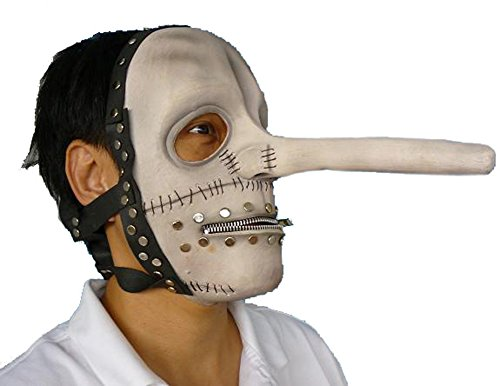 (Chris Fehn Latex Mask White Slipknot Halloween)