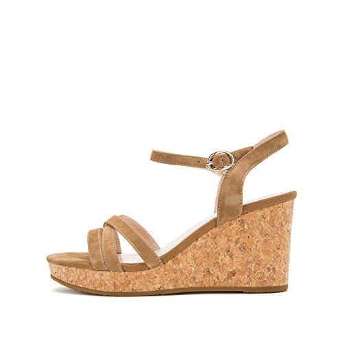 de DHG Ocasionales Sandalias S Planas Zapatillas Sandalias de de Verano Dulces de Punta Mujer Sandalias de Moda Color PPZrwqR