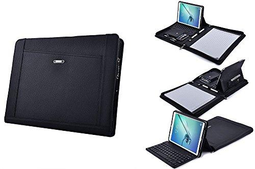 Samsung Galaxy Keyboard Portfolio,Executive Leather Padfolio Case with Bluetooth Keyboard for Samsung GalaxyTabS39.7