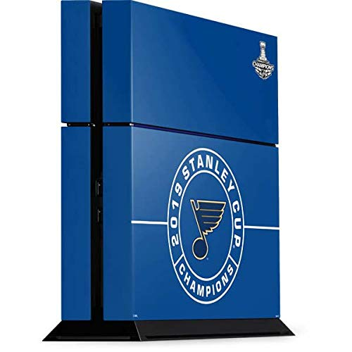 Skinit 2019 Stanley Cup Champions Blues PS4 Console Skin - Officially Licensed NHL Gaming Decal - Ultra Thin, Lightweight Vinyl Decal Protection