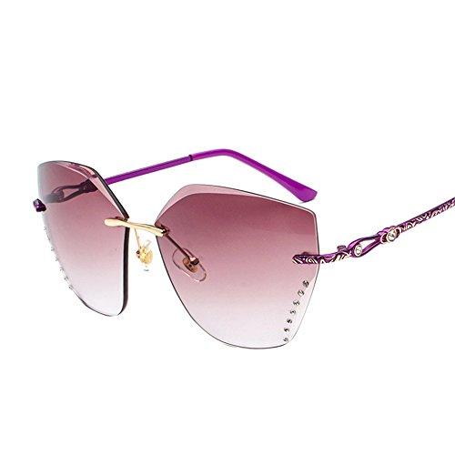 Fashion de sans Homme Lentilles Homme cadre nuances Purple Coupe Lunettes carré DESESHENME soleil Femme Lunettes Femme PaSRRq