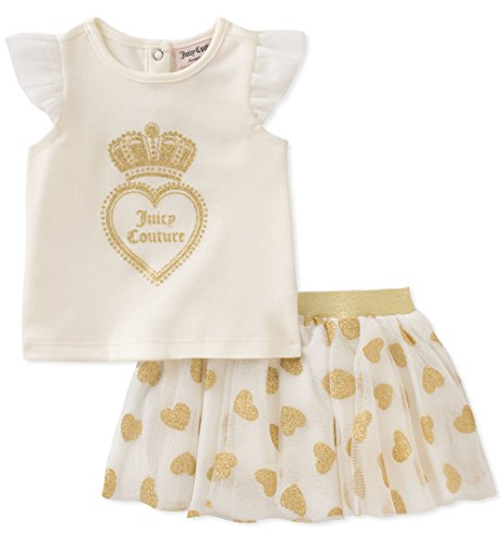 (Juicy Couture Baby Girls Scooter Set, Vanilla/Gold, 3-6 Months)