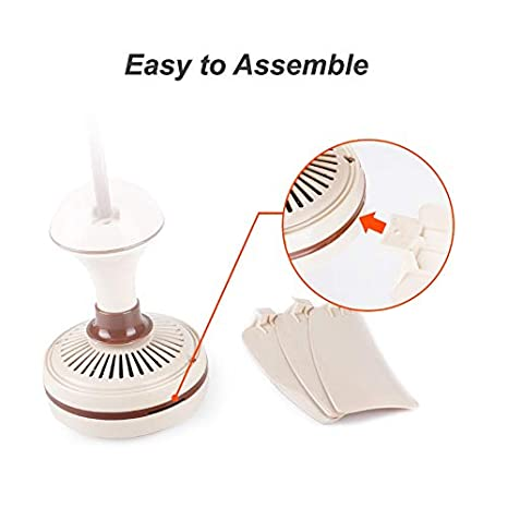 Portable Ceiling Fan Mini USB Tent Fans for Camping, Outdoor Hanging Gazebo Tents Ceiling Canopy Fan DC 5V Compatible Battery Power