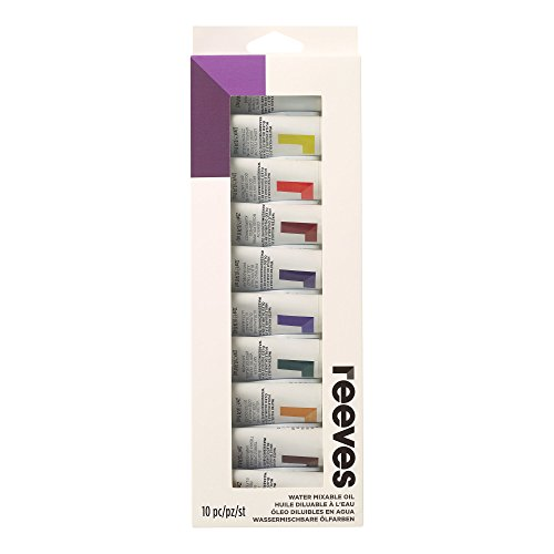 Winsor & Newton Water Mixable Oil Color Paint 22ml Tubes, Set of 10, ()