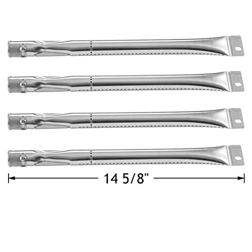 YIHAM KB866 Burner Tubes for Grill Master 720-0697 Replacement Parts for Nexgrill, BBQtek, Brinkmann, Grill King, Master Cook Gas Grills, 14 5/8 inch, Stainless Steel, Set of 4