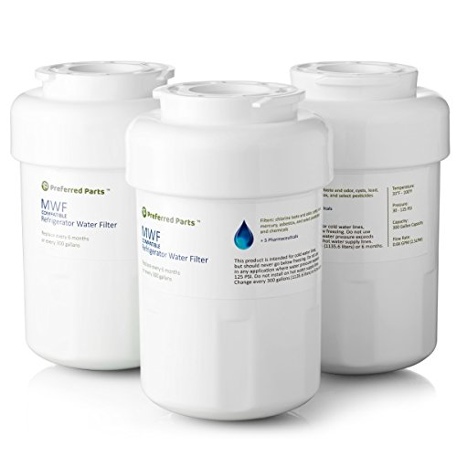 - GE MWF Refrigerator Water Filter | SmartWater Compatible Cartridge (Pack of 3)