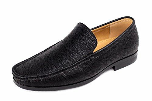 Náuticos Deslizante Informal Barco CABALLEROS Negro Zapatos xTqvnIwH4