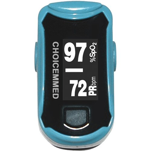 Home Fingertip Pulse Oximeter, 1ct, 2 color LED display, Comfort-fit, silicone