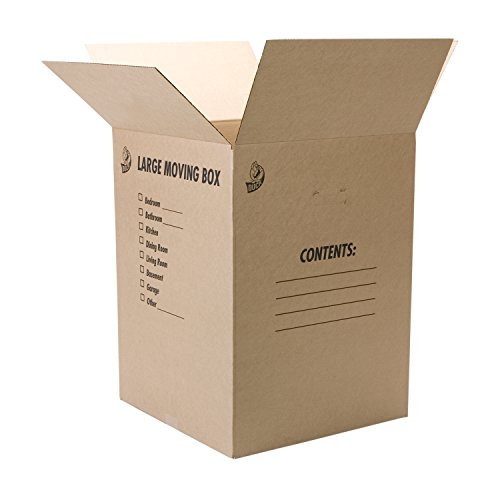"Duck Brand Kraft Corrugated Shipping Boxes, 18"" x 18"" x 24"", Brown, 6-Pack (1139734)"