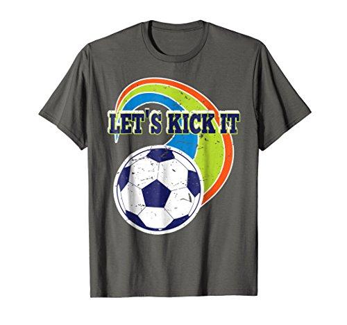 (Retro Soccer Ball Rainbow Kick It Distressed Cool)