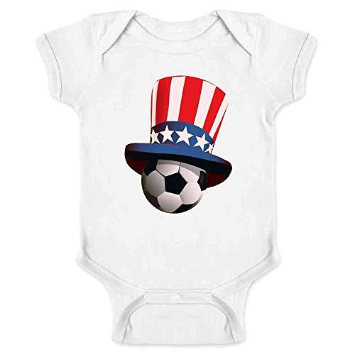 USA Soccer Retro National Team Uncle Sam Hat White 18M Infant Bodysuit ()