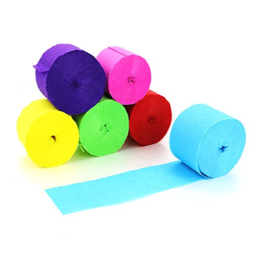 Bignc 6 Rolls Crepe Paper Streamers for Party