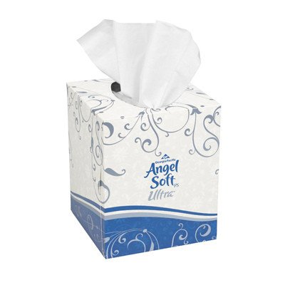 - Angel Soft Ps Ultra Premium 2-Ply Facial Tissue - 96 Tissues per Box