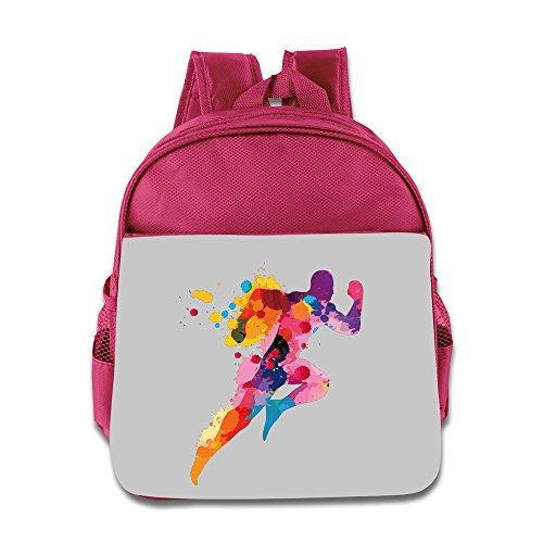 Hello-Robott Three Dimensional Runner School Bag Backpack Pink
