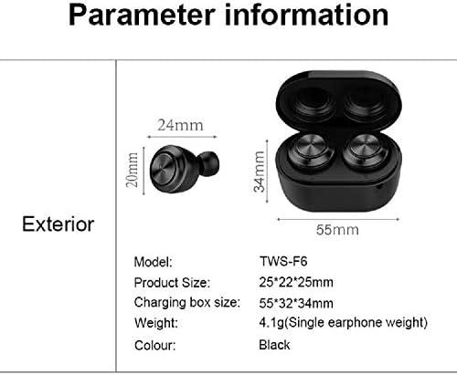 Chennong 充電ケース&マイクヘッドセット付きAYDワイヤレスBluetoothステレオヘッドフォン。ランニングスポーツのためのベースとプレミアムサウンド (Color : Black)