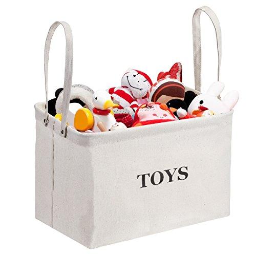 Toy Storage Bin, MaidMAX Canvas Kids Collapsible Storage Bas