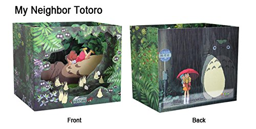 Studio Ghibli Characters Dimensional Cards Diorama 4 Types Limited Edition - My Neighbor Totoro, Kiki's Delivery Service, Spirited Away, Ponyo on the Cliff By the Sea (My Neighbor Totoro) Photo #2