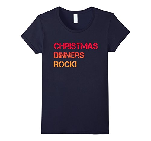 Womens Christmas Dinners Rock! Fun Christmas Dinner Party Shirt XL (Fun Christmas Party Ideas)