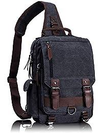 Retro Messenger Bag Canvas Shoulder Backpack Travel Rucksack Sling Bag