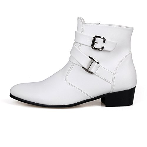 mens dress ankle boots buckle - 4