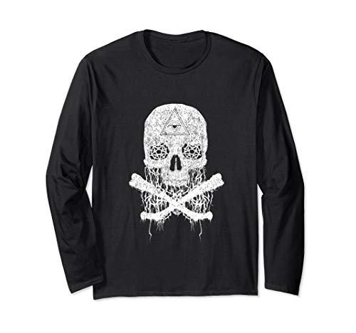 Awesome & Creepy Melting Skull Bones Long Sleeve T-Shirt