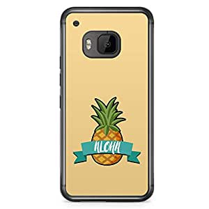 HTC One M9 Transparent Edge Phone Case Aloha Phone Case Beach Phone Case Pineapple M9 Cover with Transparent Frame