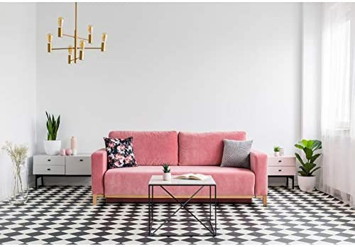 Amazon Com Dorcev 5x3ft Cozy Living Room Backdrop Black White Rhombus Carpet Pink Sofa Photography Background Nordic Style Home Decoration Wallpaper Portraits Photo Studio Props Camera Photo