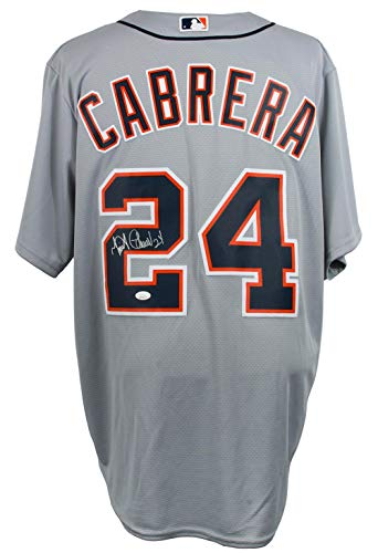 (Miguel Cabrera Signed Detroit Tigers Majestic Cool Base Baseball Jersey JSA)