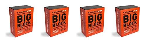 KamadoJoe KJCHAR KJ-CHARBOX Hardwood Extra Large Lump Charcoal, 1-(Pack) (4-(Pack))
