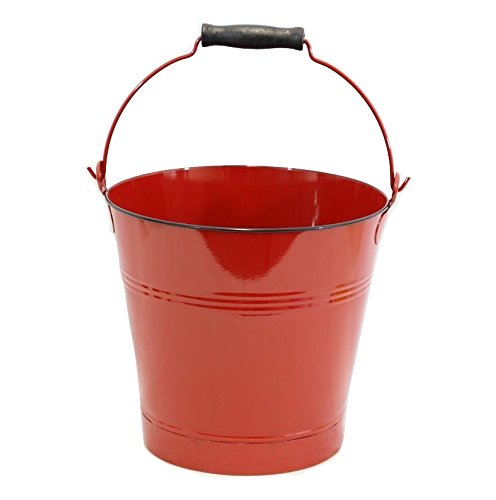 Red Enamel Pail