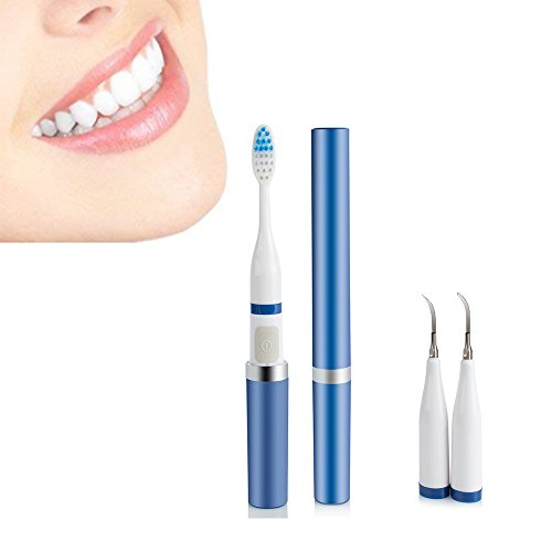 Pevor 2 in 1 High Frequency Vibration Sonic Toothbrush Electric Toothbrush Dental Calculus Teeth Stain Removal for Oral Care