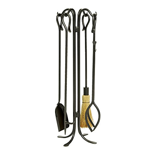 (Minuteman International Hearth Hooks 5-piece Wrought Iron Fireplace Tool)