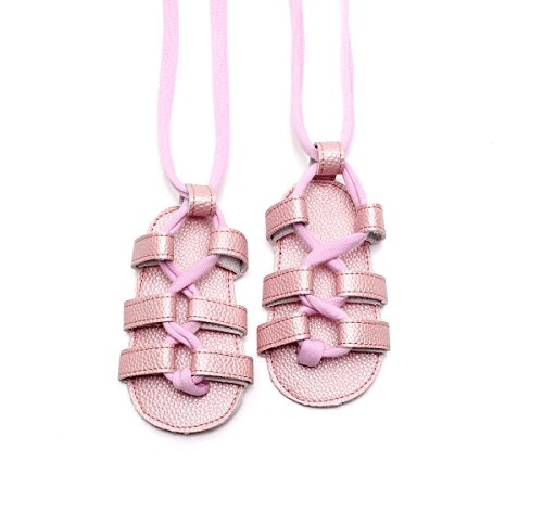 Lace-up Summer PU Leather Sandals Rome Sandals Baby Girls Boys Kids High Gladiator Sandals (18-24 Months, 4)