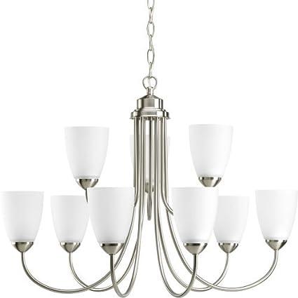 progress lighting p4627 09ebwb gather collection 9 light chandelier