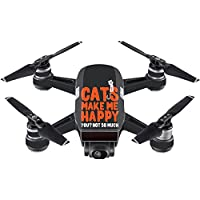 Skin For DJI Spark Mini – Cats Make Me Happy | MightySkins Protective, Durable, and Unique Vinyl Decal wrap cover | Easy To Apply, Remove, and Change Styles | Made in the USA