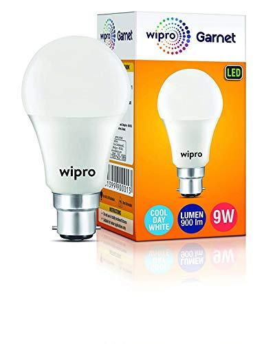 JESMIN ENTERPRISE_Wipro Garnet Base B22 9-Watt LED Bulb ( Pack of 1, Cool Day White )