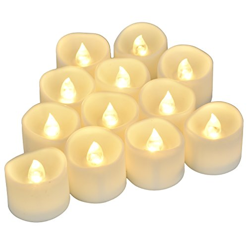 Flameless Candles Battery Operated Uneven