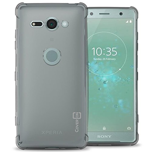 Sony Xperia XZ2 Compact Case, CoverON [FlexGuard] Slim Fit TPU Phone Cover with Anti-Slip Grips and Corner Impact Padding for Sony Xperia XZ2 Compact - HD Clear