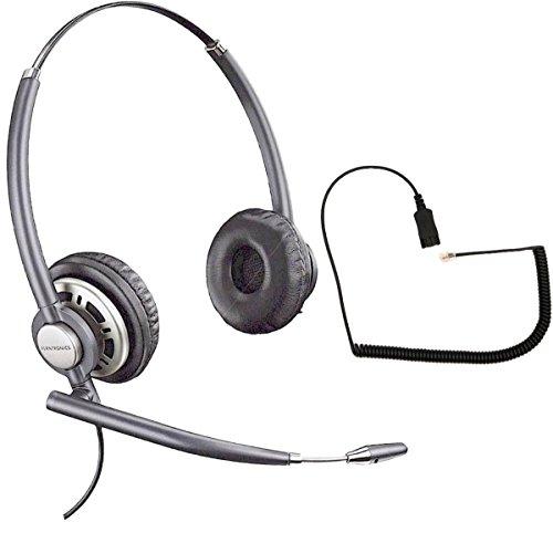 Headset Compatible Phone - Polycom Compatible Plantronics VoIP Noise Canceling EncorePRO HW720 Headset Bundle for SoundPoint® VoIP Phones: IP 300, 335, 450, 501, 550, 560, 600, 650, 670   VVX300, VVX310, VVX400, VVX410, VVX500, VVX600, VVX1500   CX300, CX600, CX700
