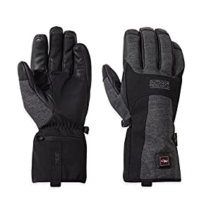 Outdoor Research Oberland Heated Gloves, Black/Charcoal, Small