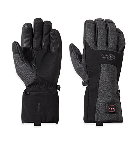 Outdoor Research Women's Oberland Heated Gloves, Black/Charcoal, Small