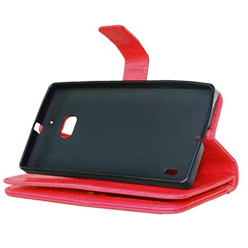UBMSA-Neue Luxus-Leder-Mappen-Schlag-Standplatz-Fall-Abdeckung Taschen and Schalen f¨¹r Nokia Lumia 930 [Eingebaute 9 Kreditkarten Slots]