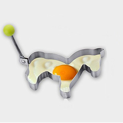 [dipshop Horse Fried Egg Mold Pony Stainless Steel Pancake Ring Cooking Tool] (Toddler Fried Egg Costume)