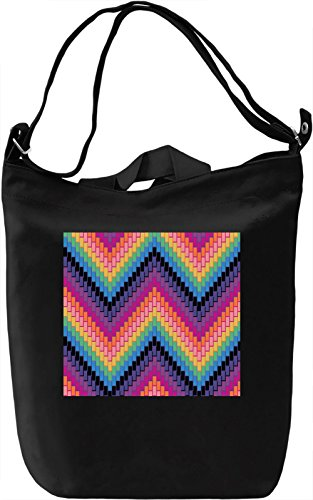 Red and Blue Pattern Borsa Giornaliera Canvas Canvas Day Bag| 100% Premium Cotton Canvas| DTG Printing|