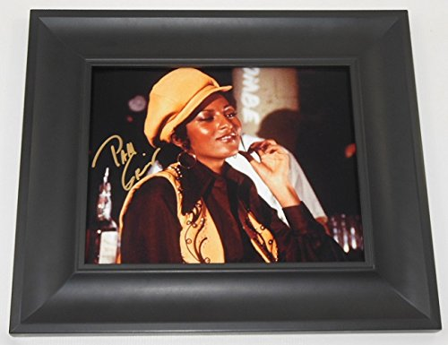 Foxy Brown Pam Grier Hand Signed Autographed 8x10 Photo Gallery Framed Loa