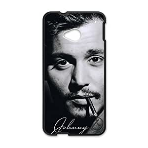 Happy johnny depp smoking Phone Case for HTC One M7