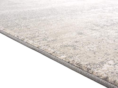 Luxe Weavers Howell Collection Abstract Gray 5x7 Area Rug - Actual Dimension: 5 feet 2 inches width by 7 feet 2 inches length Easy to maintain: Care instuction, vacuum regularly and spot clean stains using mild soap and water. Super soft fibers, comfortable soft to feel. - living-room-soft-furnishings, living-room, area-rugs - 41ZhB%2BKA4kL -