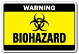 Biohazard Warning Sign | Indoor/Outdoor | Funny Home Décor for Garages, Living Rooms, Bedroom, Offices | SignMission Toxic Symbol Bio Radiation Medical Waste Sign Wall Plaque Decoration