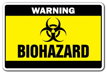 Amazon.com: Biohazard señal de advertencia Señales De ...